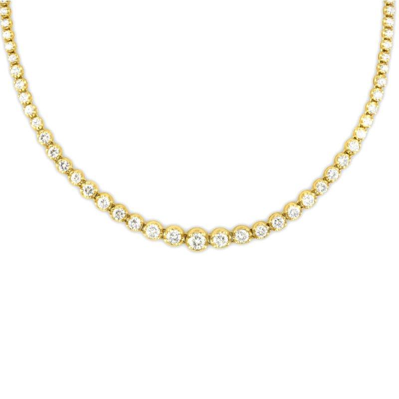 Gold Fire Diamonds Riviera Tennis Necklace