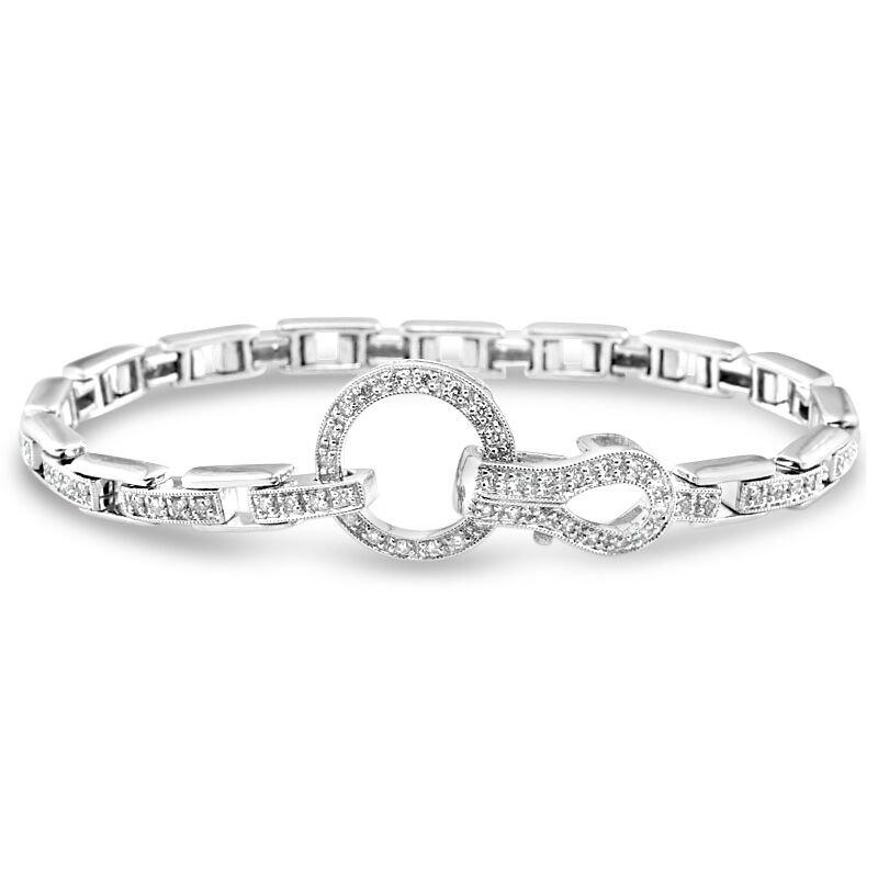 Gold Fire Diamonds Circle and Link Bracelet