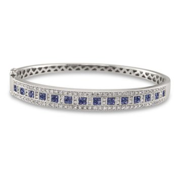 Princess Square Sapphire Bangle