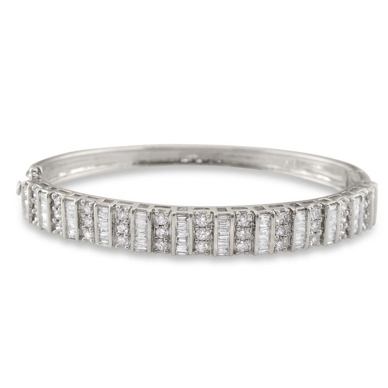 Gold Fire Diamonds Vertical Row Bangle