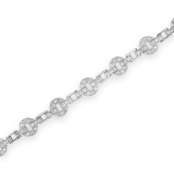 Circle and Bar Link Bracelet