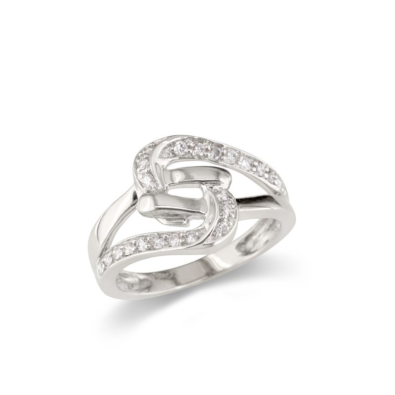Gold Fire Diamonds Interlock Cocktail Ring