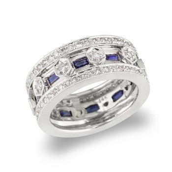 Sapphire Accent Wedding Band