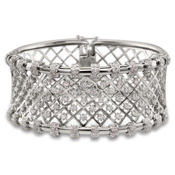 Mesh Diamond Cuff Bracelet