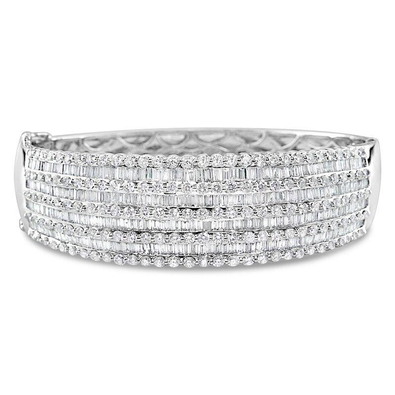 Gold Fire Diamonds Nine Row Bangle Bracelet
