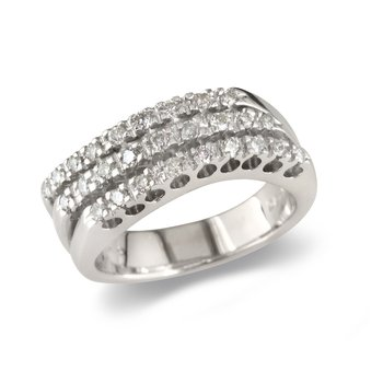 Triple Row Wedding Band