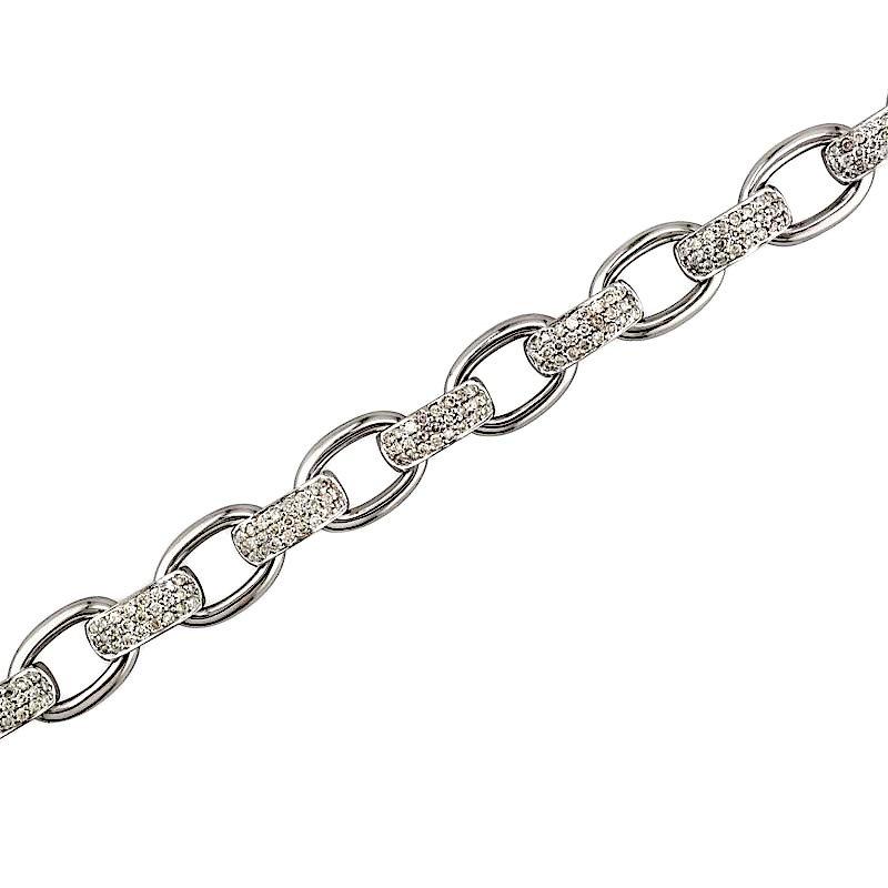 Gold Fire Diamonds Chain Bracelet Diamond Links