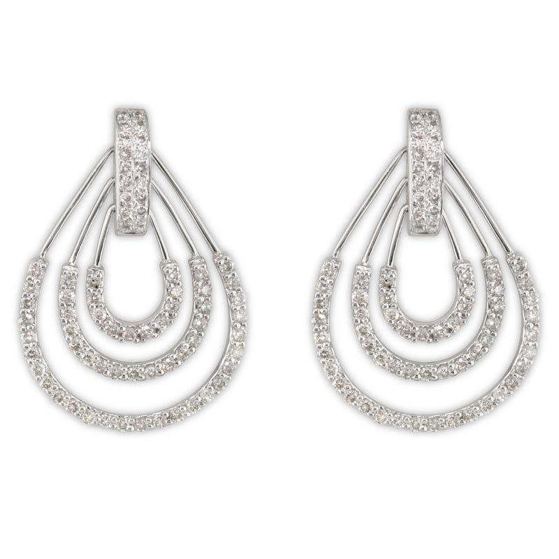Gold Fire Diamonds Large Triple Pear Earrings