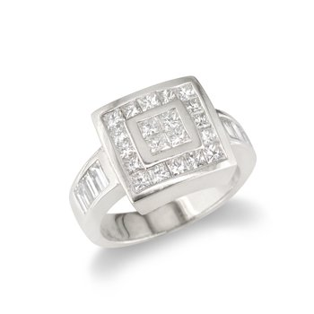 Square Top Cocktail Ring