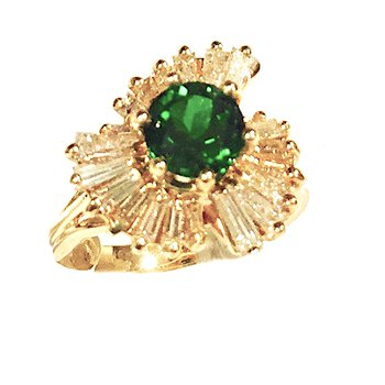 Tourmaline Starburst Cocktail Ring