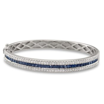 Single Row Sapphire Bangle