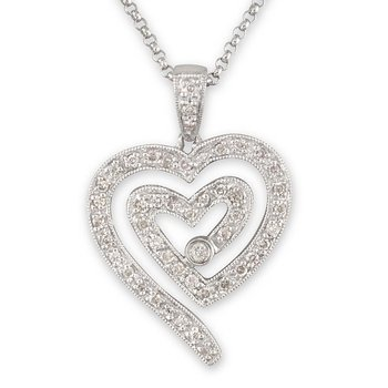 Open Double Heart Pendant