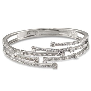 Staggered 5 Row Bangle