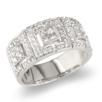 Princess and Picture Frame Wedding Band