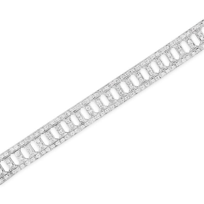 Gold Fire Diamonds Grecian Bar Link Bracelet