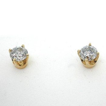 4 Prong Round Stud Earrings1/4 ct Y