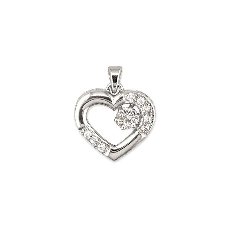 Gold Fire Diamonds Small Heart Pendant