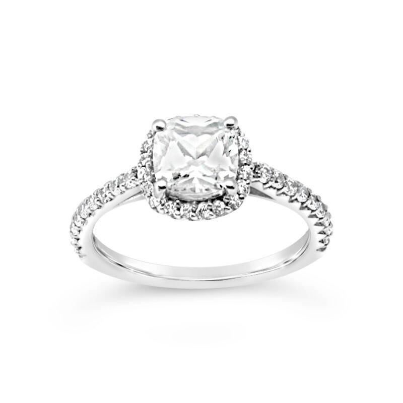 Gold Fire Diamonds Diamond Halo Semi Mount