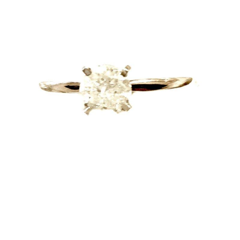 Gold Fire Diamonds Round Solitaire 1/2 Ct