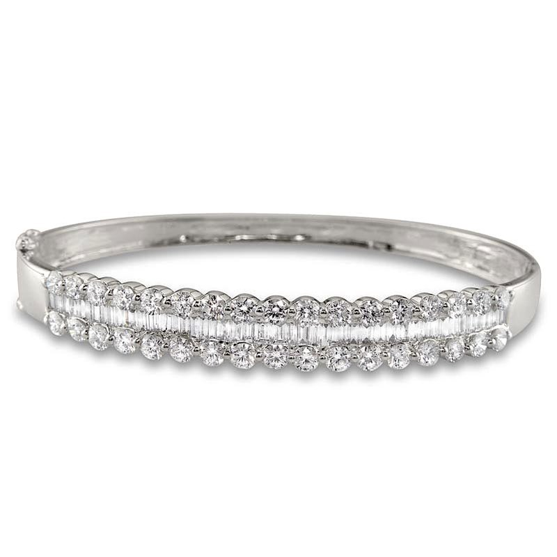 Gold Fire Diamonds Triple Row Bangle