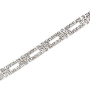 Rectangle Cross Link Bracelet