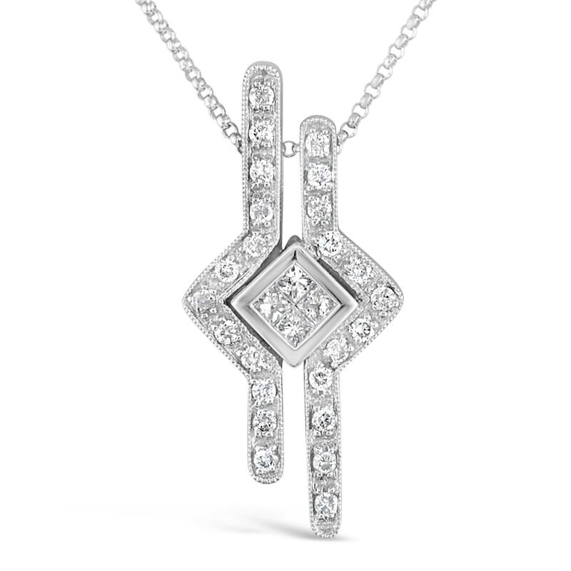 Gold Fire Diamonds Puzzle Pendant