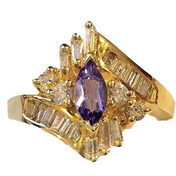 Tanzanite Marquise Cocktail Ring