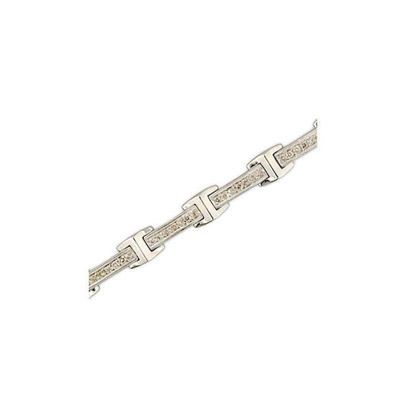 Gold Fire Diamonds Flex Bar Link Bracelet