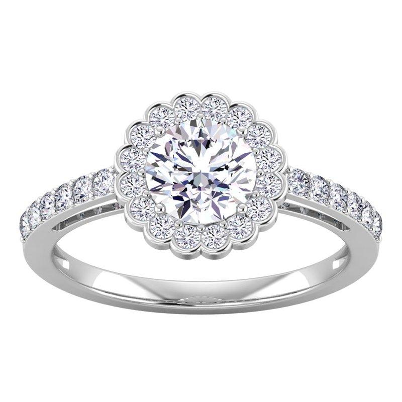 Lab Grown Diamonds Certified 1 3/8ctw Diamond Engagement Ring