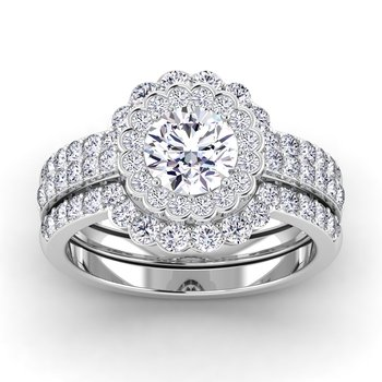 Certified 1 3/8ctw Diamond Engagement Ring