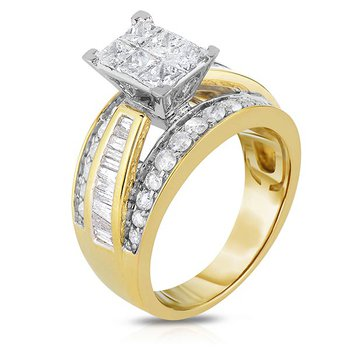 2 Ctw Princess Cut Engagement Ring