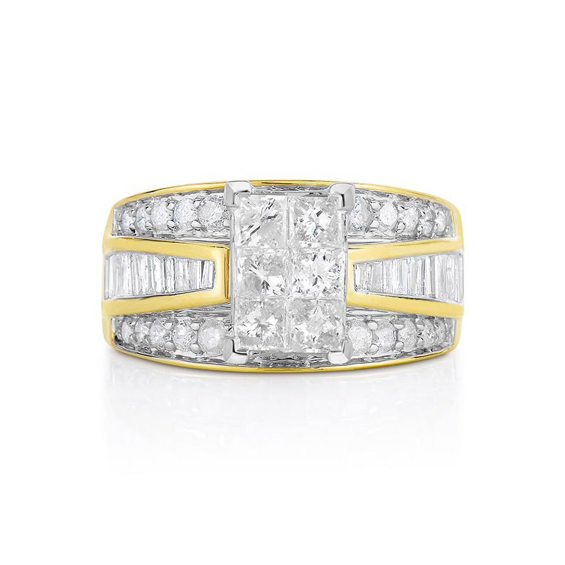 Promise Forever 2 Ctw Princess Cut Engagement Ring