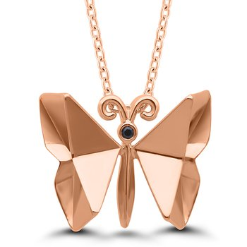 Origami Butterfly SS Necklace