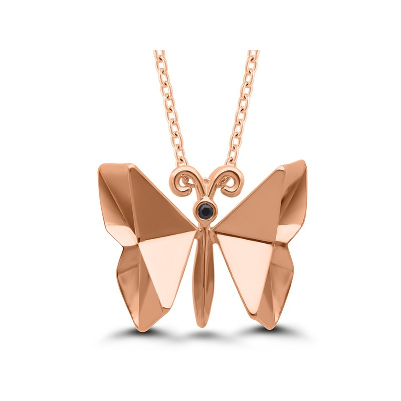 Gifts That Rock Origami Butterfly SS Necklace