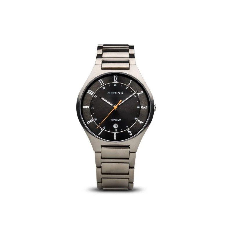Bering  Titanium Case & Bracelet, Dark Gray Dial