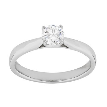 Certified 1/2 Ct Diamond Engagement Ring
