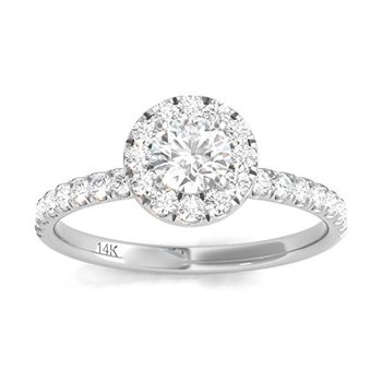 Certified 3/4ct Engagement Ring