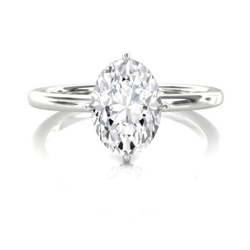 1/2 CT Oval Solitaire Engagement Ring