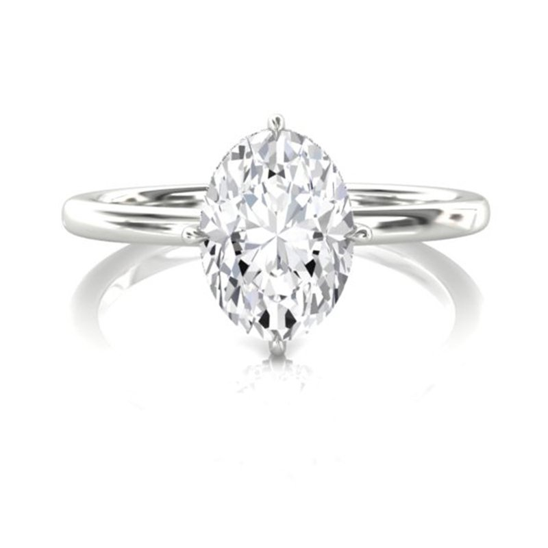 Saslow's & Henebry's Collection 1/2 CT Oval Solitaire Engagement Ring