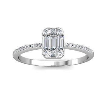 14kw .38ctw Baguette Ring