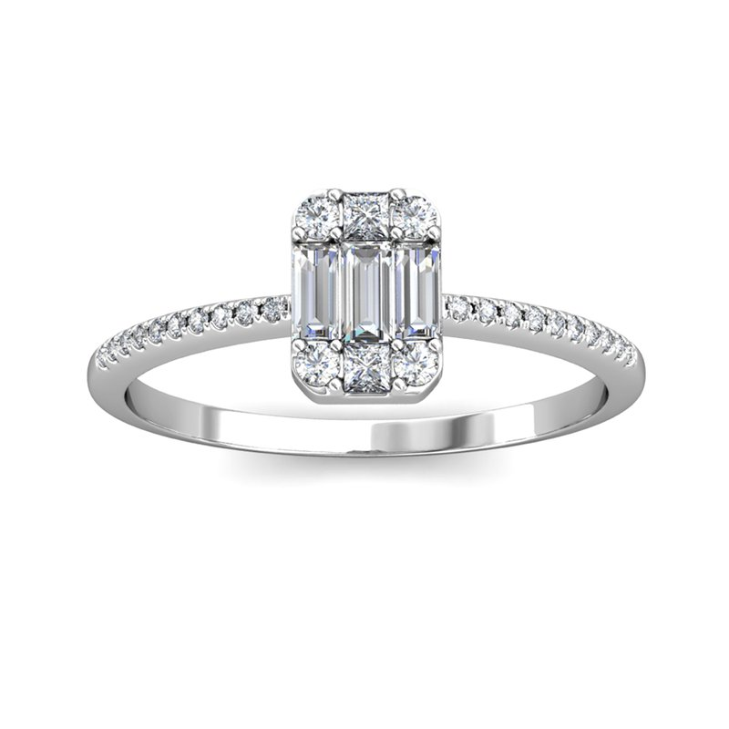 Novell 14kw .38ctw Baguette Ring