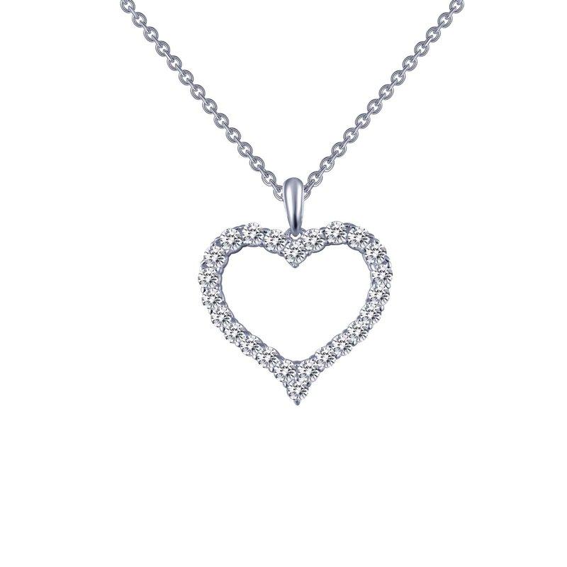 LaFonn Open Heart Pendant Necklace