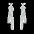 Saslow's & Henebry's Collection Channel Double Diamond Hoops