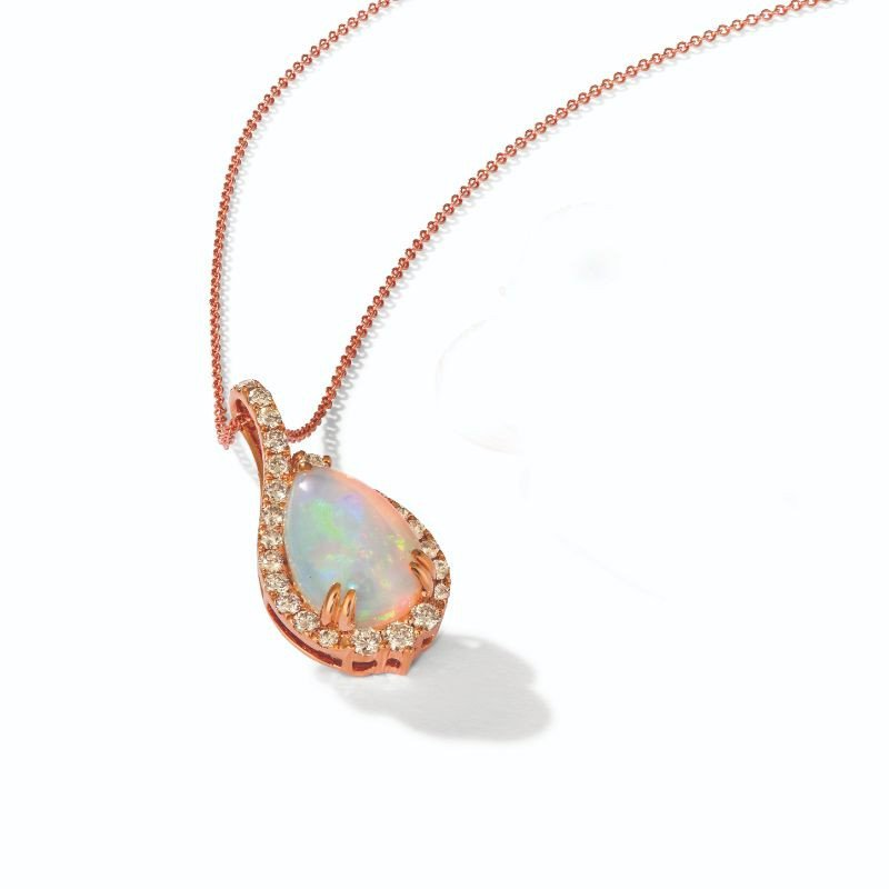 Le Vian 4K Strawberry Gold® Neopolitan Opal™ 2 1/5 cts. Pendant with Nude Diamonds™ 5/8 cts.