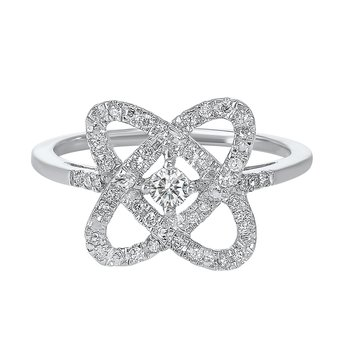 1/4ct Love Crossing Ring