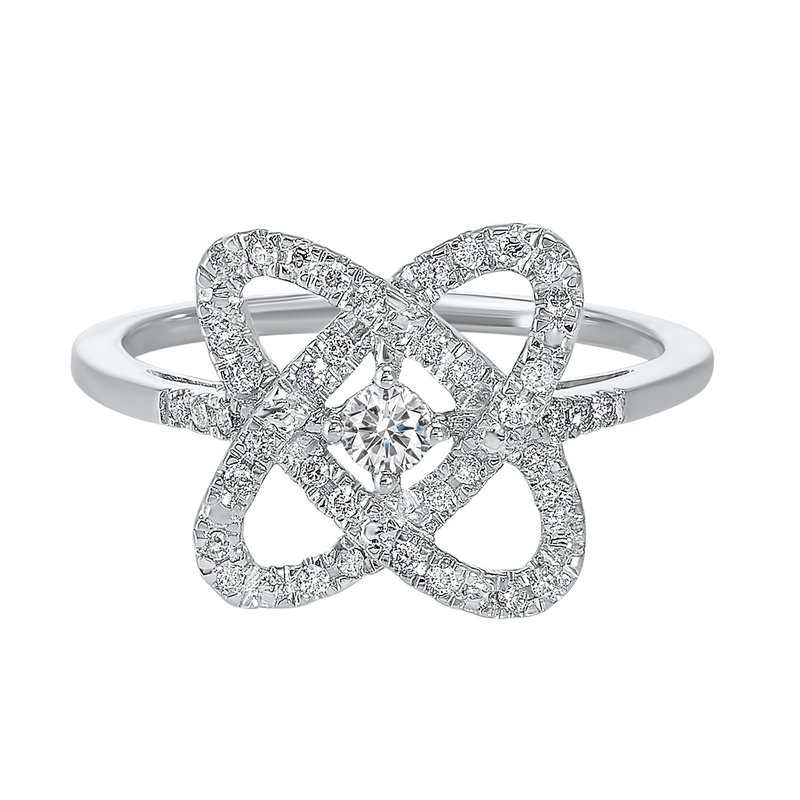 Saslow's & Henebry's Collection 1/4ct Love Crossing Ring