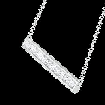 1/3ctw Bar Necklace
