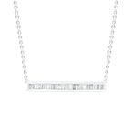 Saslow's & Henebry's Collection 1/3ctw Bar Necklace