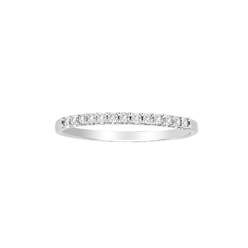Saslow's & Henebry's Collection .15ctw White Gold Prong Set Diamond Band