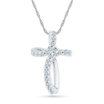 .10ctw Diamond Cross Necklace